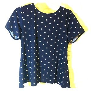 Banana Republic knit polka dot navy blue